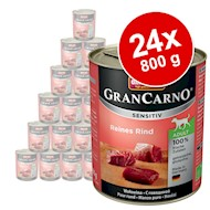 Økonomipakke Animonda GranCarno Sensitive 24 x 800 g - Kylling pure