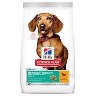 Hill's Science Plan Adult 1+ Perfect Weight Small & Mini Kylling hundefoder - 6 kg