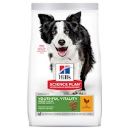 Hill's Science Plan Adult 7+ Youthful Vitality Medium Kylling hundefoder  - 14 kg
