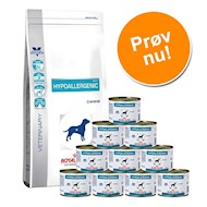 12kg Gastro Intestinal Low Fat Royal Canin + 12x410 g vådfoder