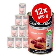 Økonomipakke Animonda GranCarno Sensitive 12 x 400 g - Mix, 6 varianter