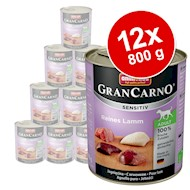 Økonomipakke Animonda GranCarno Sensitive 12 x 800 g - Kylling pure