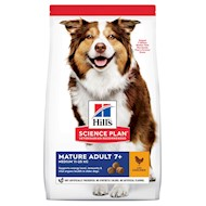Hill's Science Plan Mature Adult 7+ Medium Kylling hundefoder - Supplement: 6 x 354 g Hill's Science Plan Mature Adult Ragout Kylling